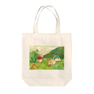 春のおしらせ Tote bags
