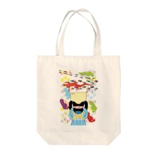 雑巾がけと足跡(リメイク) Tote bags