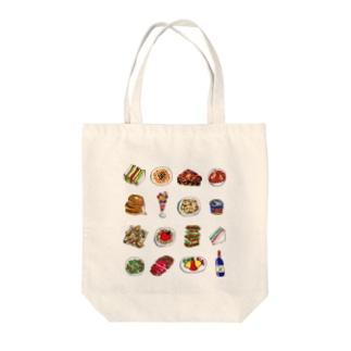 たべもの Tote bags
