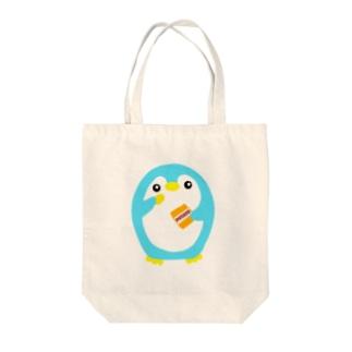 ポテチうまうまペンギン Tote bags