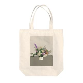 初夏のお花 輪郭あり Tote bags