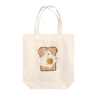 メダマヤキトーストブタ Friedeggtoast  pig Tote bags
