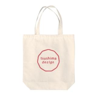 tsushima design Tote bags