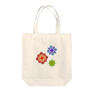 カレイドスコープ Tote bags