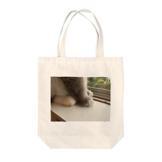 もふもふの奴のあんよ Tote bags