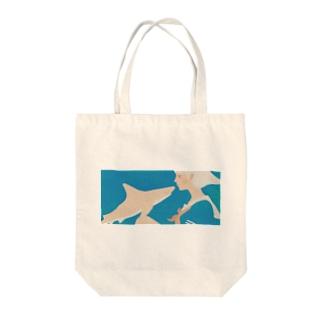 彼女はサメが好き eye Trimming Tote bags