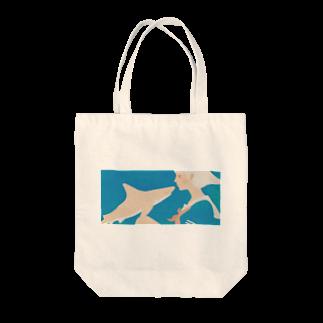 イラストレーター さかたようこの彼女はサメが好き eye Trimming Tote bags