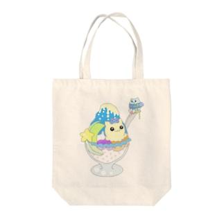 ブルーハワイマカニャン Tote bags