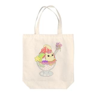 イチゴマカニャン Tote bags