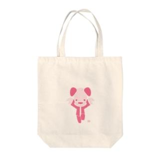 いぬカンフーピンク Tote bags