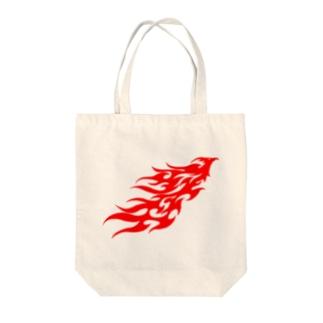 トライバル・フェニックス Tote bags