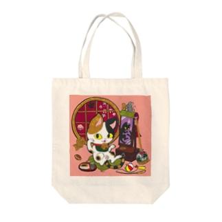 猫神様 Tote bags