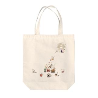 呑ぬこニャトート(B) Tote bags