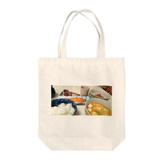 朝ごはん Tote bags