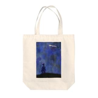 不思議な夜 Tote bags