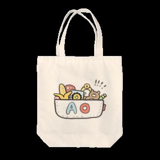 ゆゆ丸のあお◎ Tote bags