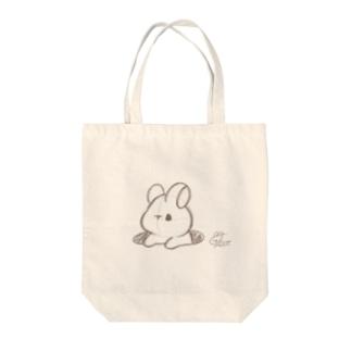 ラフ画うさぎ Tote bags