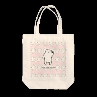 ぺちぺち工房 Pechi Pechi Atelierのしろくまがいっぱい Tote bags