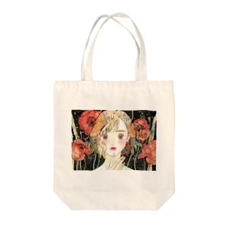 poppy make Tote bags