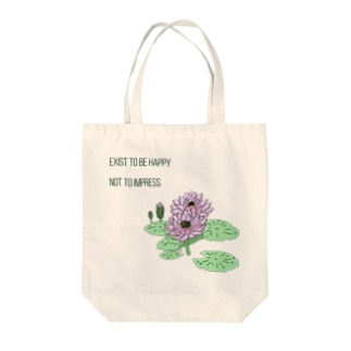 Exist to be happy  Tote bags