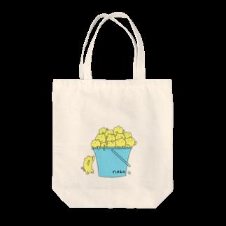むーのねこバケツ Tote bags