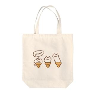 なめらかアイスクリームキャット Tote bags
