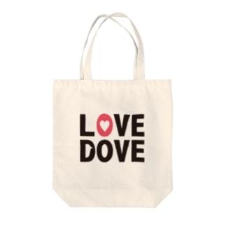 LOVE DOVE Tote bags
