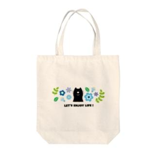CAT(ブルー) Tote bags