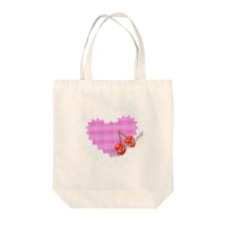 レース&ハート(Give me love) Tote bags