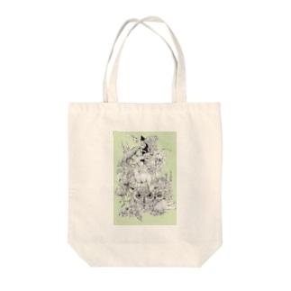 maooのミミズク Tote bags