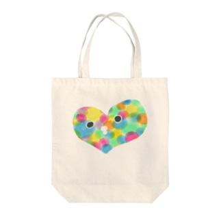 ぴよハート Tote bags