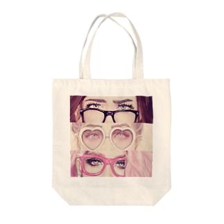 メガネ女子 Tote bags