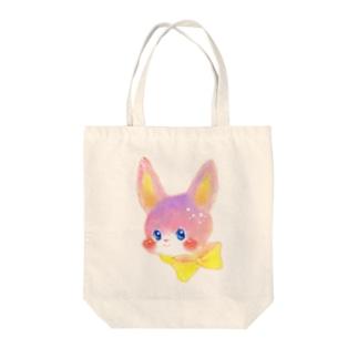 リボンうさぎ Tote bags