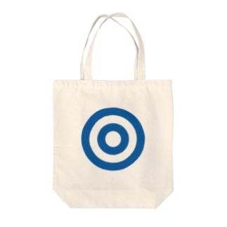 蛇の目(ブルー) Tote bags
