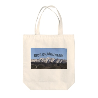 RIDE ON MOUNTAIN Tote bags