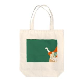 向日葵のトートバッグ Tote bags