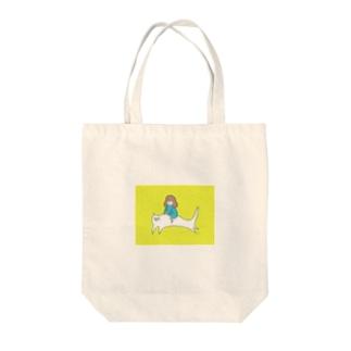 猫とお出かけ Tote bags