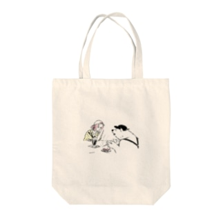 never ending story Tote bags