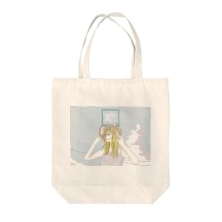 染まる夏 Tote bags