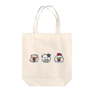牛豚鶏 Tote bags