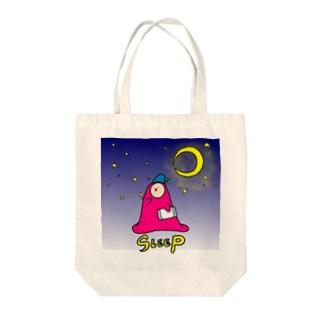 フトンナメクジのSLEEP - オヤスミナサイ  Tote bags