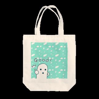 陽崎杜萌子@LINEスタンプ販売中の白いハニワ【Good!】トートバッグ