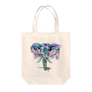 ゾウとヌノ Tote bags