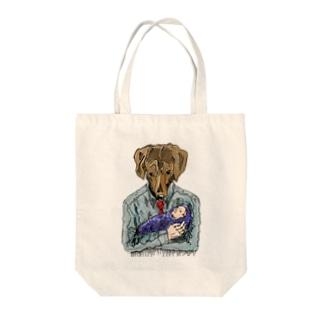 犬パパ Tote bags