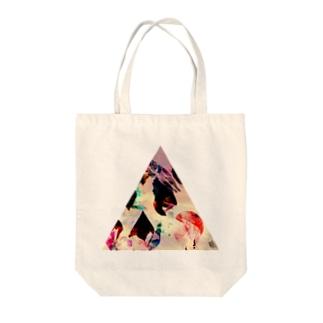 ▲4【三角形の穴】  Tote bags