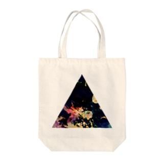 ▲5【三角形の穴】  Tote bags