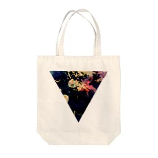 ▼5【逆三角形の穴】 Tote bags