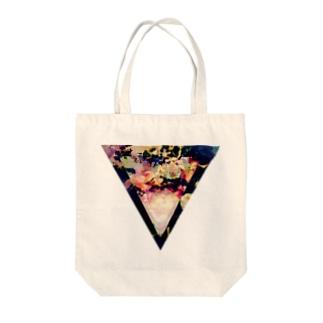 ▼5-2【逆三角形の穴】 Tote bags