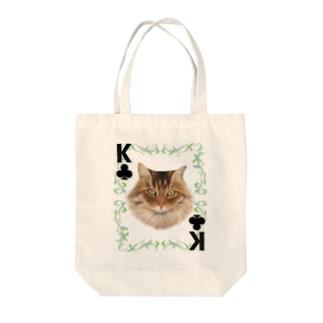 クラブのキング ノルウェージャンフォレストキャット Tote bags