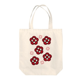 椿RED Tote bags